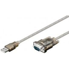 Cablu convertor USB A tata - RS232, DB9 tata 1,8m